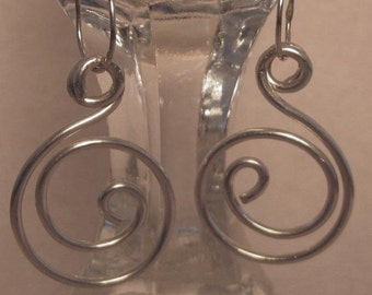 Sterling Swirl Earrings