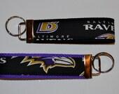 Baltimore Ravens Key Fob, Football Key Chain, Wristlet