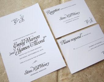 Wedding Invitation Artsy Swirl - Deposit