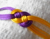 Purple and Gold Knot Bracelet