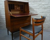 Stunning Vintage Teak Bureau Desk - - - NOW SOLD - - -