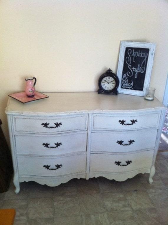 Shabby Chic 6 drawer French Provincial Dresser