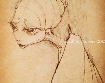 Madame Butterfly limited edition print