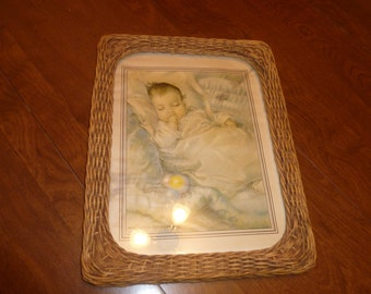 Very Old Photo of a Baby in a Vintage Frame