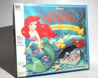 The Little Mermaid Game from Milton Bradley 1990 COMPLETE (read description)