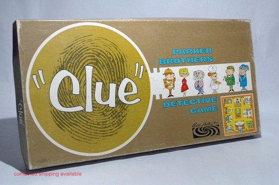 Clue Detective Game from Parker Brothers 1963 COMPLETE (read description)