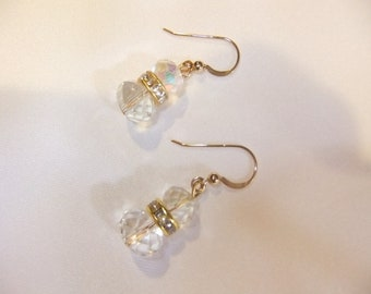 Wedding Swarovsky crystal earrings-  Available in your choice of color