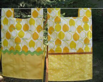 Childs reversible lemon apron