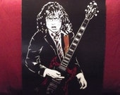 "AC/DC /  Angus Young  is a Limited Edition, 10""x13"", numbered Print of the Original Art by Artist Charles Freeman"