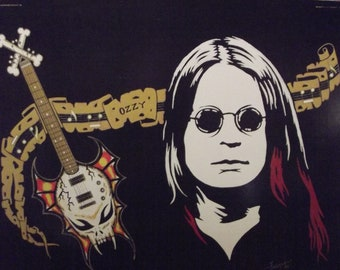 """Ozzy Osbourn of Black Sabbath in Art is a Limited Edition, numbered, 10""""x13"""" Print of the Original Painting by artist Charles Freeman"""