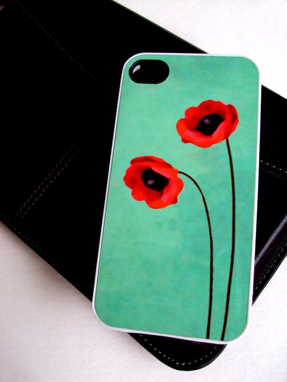 Red Poppies iPhone 4 Case by Sassy Cases Unique and Cool Phone Covers