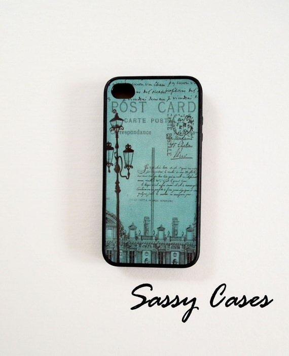 iPhone 4 and iPhone 4S Case Carte Postal Post Card Ships from USA