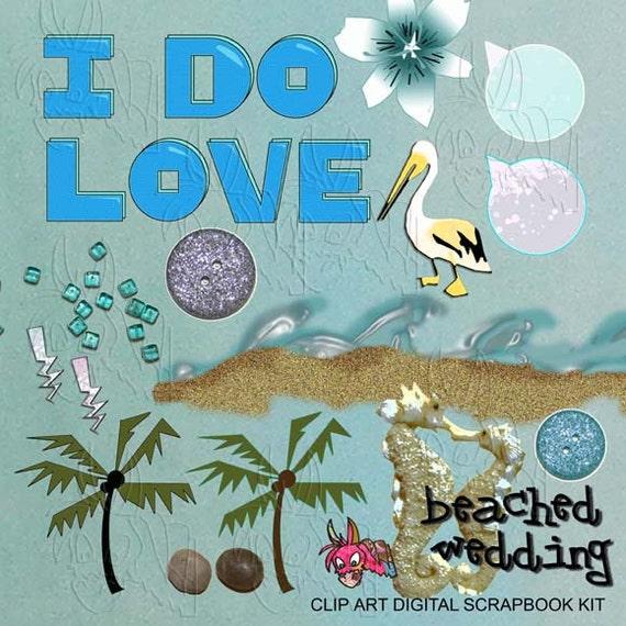 Items similar to BUY 2 GET 1 FREE Clip Art Wedding Beach ...
