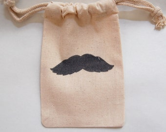 Mustache Bash Favor Bags / Set of 10 / Perfect for Birthday Parties or Baby Showers