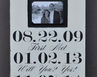 Wedding Photo Frame, Custom Wedding Sign, Personalized Engagement Gift,Wedding Gift, Engagement Present, Bridal Shower Gift