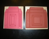 Reserved for Stephanie - Two Box Template Rubber Stamps (Square and Rectangle) by Inky Antics