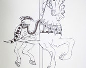 "Illustration ""Carousel Horse"""
