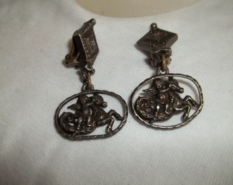1950s earrings, clip ons