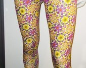 leggings flower Size: S, 3/4 long