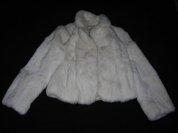 Funky White Rabbit Fur