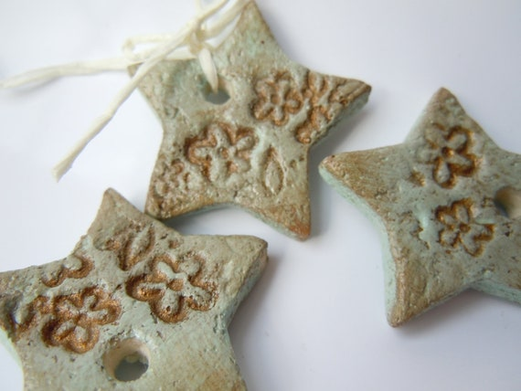 favours, stars handmade, Christmas tree ornaments, Christmas decorations, star, salt dough, hanging star