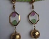 Vintage  Dangle clip on Earrings