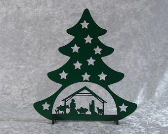 Christmas tree made in wood