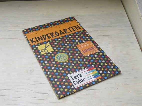 Handmade, Kindergarten Card, K-5 Card, 1st Day of School Card, Back to School Card, Glitter Card