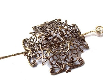 Celtic Cross Shawl Pin, Celtic Cross Scarf Pin, Celtic hair Slide, gold shawl pin, pagan, brass, fall fashion, gold scarf pin