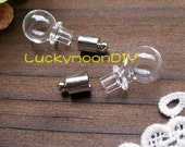 20Pcs Lovely Glass bottle with a Loop on top (BT011)