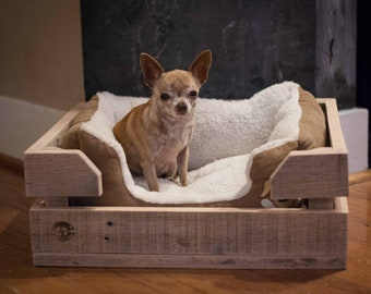 Dog Bed Wood Crate  - Made of Reclaimed Wood