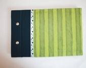 Green Striped handmade journal/album