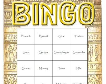Egyptian Themed Bingo Set