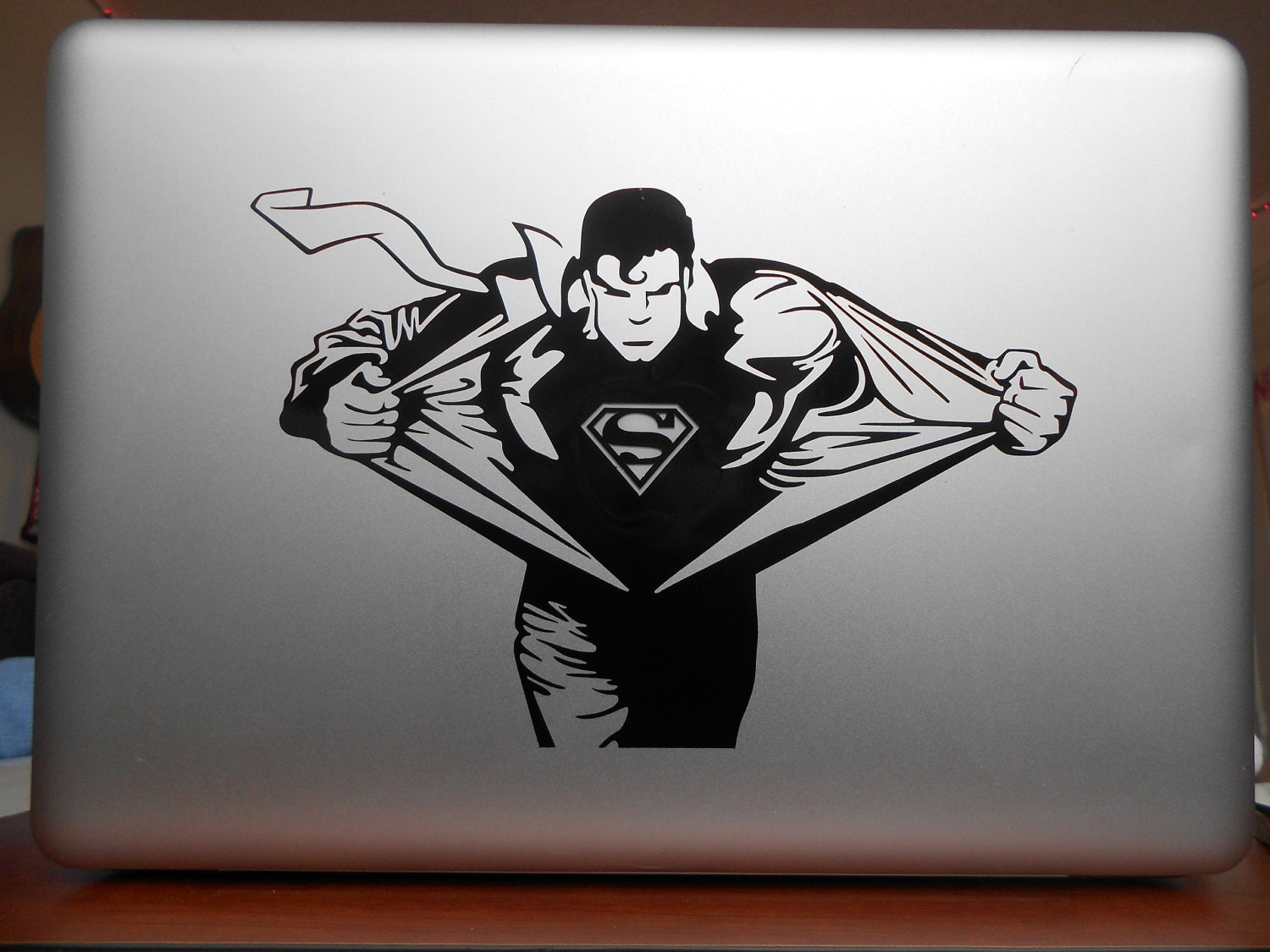 Custom superman wall decal color the walls of your house custom superman wall decal similar to clark kent superman macbook vinyl decal amipublicfo Choice Image