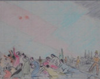 The Armenian Massacre   study with watercolor