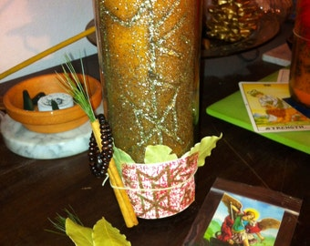 Career-School-Opportunity Custom Inscribed & Charged Candle - Hand Carved Ritual Spell Hoodoo Voodoo Vodou Wicca