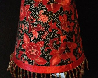 Red Asian Floral  027-2
