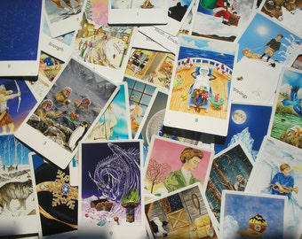 Snowland Tarot Deck (Full - 78 Cards) With Tarot Bag and Companion eBook