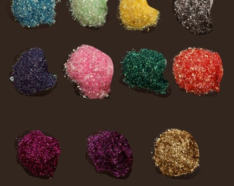 Reflective Glitter Flakes, 100 gr per pack - choose colour