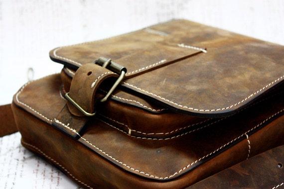 iPad Leather Bag, Ipad Genuine Leather Bag, Best Men Groom Gift, Wedding present, Crossbody IPad Bag,Handmade Leather IPad Bag
