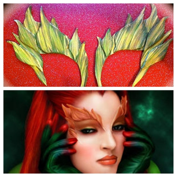 14% OFF Coupon Sale Poison Ivy sexy Eyebrows set :Green leaves Halloween Costume