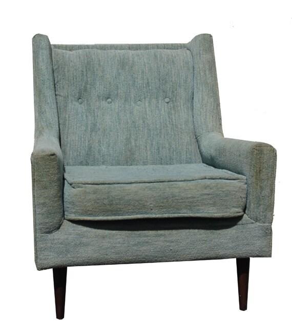 Mid Century Aqua Arm Chair