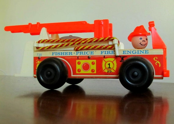 1968 Little People Fisher Price Fire Truck Fire Engine