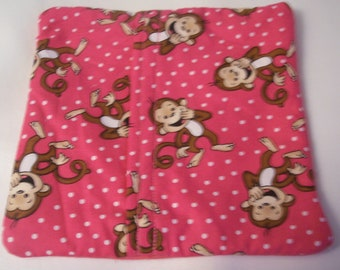 Microwave potato bag bag for microwaving potatos Pink Hot Pink Giggling Monkeys