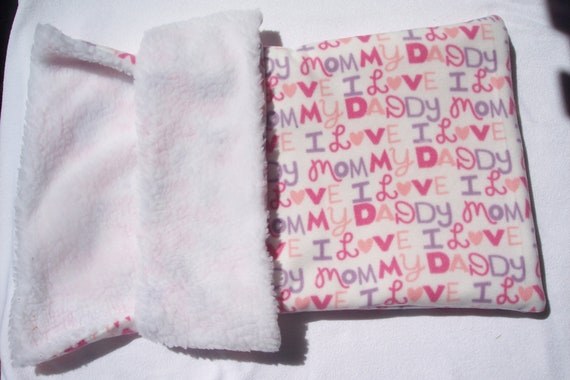 Burrow Bag Snuggle Dog Bed Cat Bed Kitty Puppy Blanket Fleece Sherpa Pink CLEARANCE