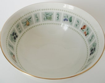 "Royal Doulton, ""Tapestry"" soup bowl with handles"