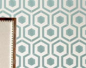 Wall Stencil Honeycomb Hexagon Modern look Geometric Pattern Wall Room Decor Made by OMG Stencils Home Improvements Color Paintings 0065