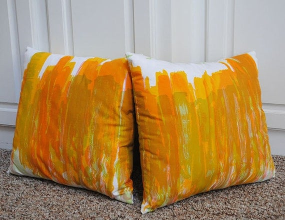 Set of Chicago Skyline Screen-printed Pillows