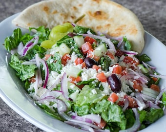 "Greek Salad  ""Salata a la Greque"" Recipe"