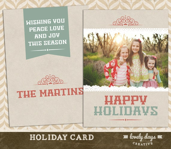 Holiday Photo Card Template for Photographers